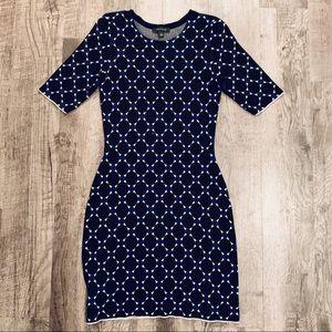 Ann Taylor LOFT Knit Pattern Dress Size XS